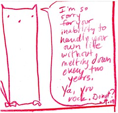 """you rock"" - a Yo & Dude™ comic by eric Hews © 2008 (eric Hews) Tags: life usa dog cats white black dogs rock illustration cat puppy observation fun virginia sketch photo puppies kitten funny eric pix artist comic pattern image you drawing web yo humor cartoon emo creative picture kitty free kittens pic sketchbook humour richmond dude photograph independent donut writer comicstrip conversation gif illustrator jpg toon jpeg cartoons linedrawing bandes helpless bipolar overwhelmed blague dessiner overwhelm hews yodude erichewscom ©2008erichewscom yoanddude erichews ©2008erichews ennuizle"