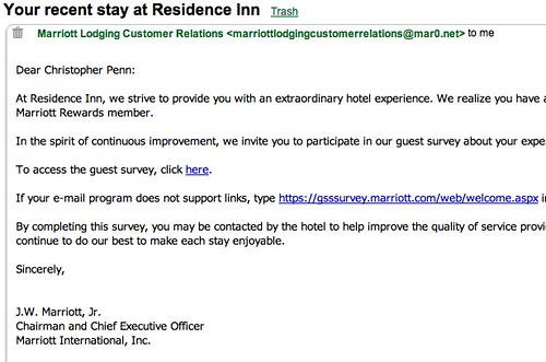 Gmail - Your recent stay at Residence Inn