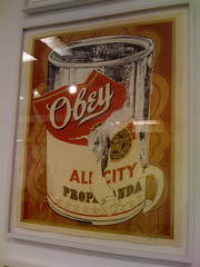 shepard fairey's campbell's soup can (theres no way home) Tags: show chicago booth print soup cincinnati obey next fairey shepard iconoclast cambells artropolis