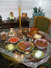 Easter Table with Cheese Paskha and Kulich (jrozwado) Tags: food usa me cheese easter bread florida egg sausage ham butter fortlauderdale lamb tradition russian ukrainian orthodox traditionalculture ethnography paskha pysanky kulich кулич пасха писанки kovbasa