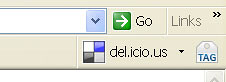 Del.icio.us extension in Internet explorer