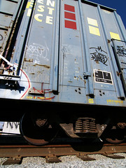 MATOKIE & TWIST (looking up) (TRUE 2 DEATH) Tags: california railroad streetart train graffiti la losangeles tag graf meta twist trains railcar barrymcgee ms boxcar railways hobo railfan freight margaretkilgallen gsw mslaughter hobotag hobomoniker benching matokieslaughter 92296
