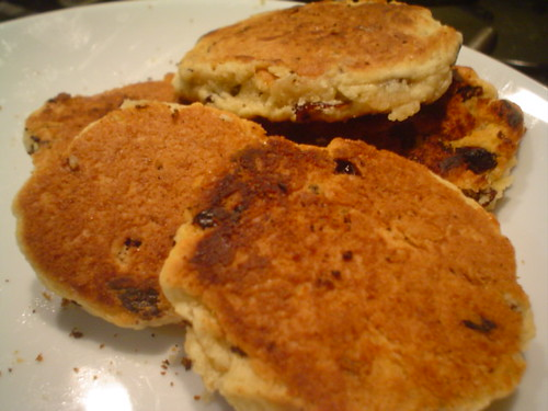 Tortitas galesas de pasas