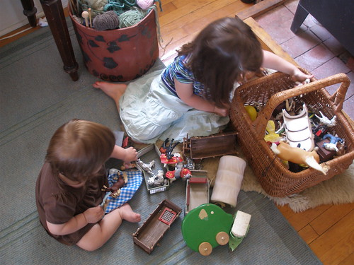 rearrange the toys and they'll play for hours