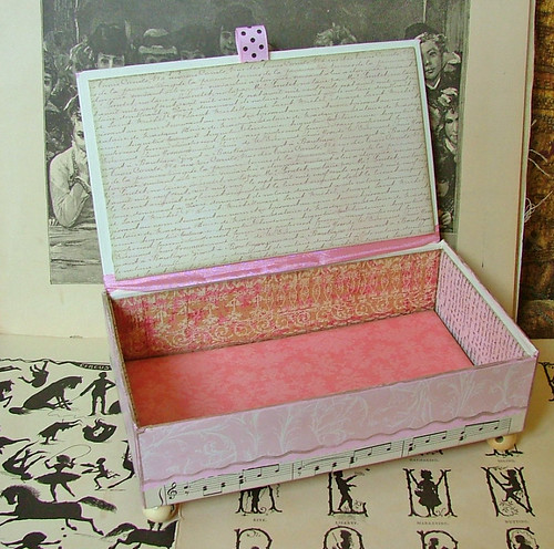 beautiful paper covered cigar box
