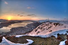Fjellheisen (Lars Ivar) Tags: sun snow norway clouds nikon 1855mm d200 hdr midnightsun troms troms tromsdalen photomatix flya 5xp fjellheimen