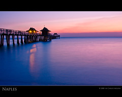 NAPLES PIER (carlosm76) Tags: ocean longexposure sunset sea digital canon pier florida inspirational reflexions digitalphotography naplespier 5photosaday naplesbeach 40d platinumphoto visiongroup floridaswestcoast colourartaward happinessconservancy peachofashot canhon40d