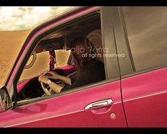 """""       ... (  7 (TAKEN)) Tags: pink cute girl car bar sand nissan uae vtc bdayer thaja7arra"