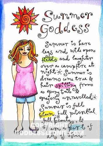 Summer Goddess: Art Print