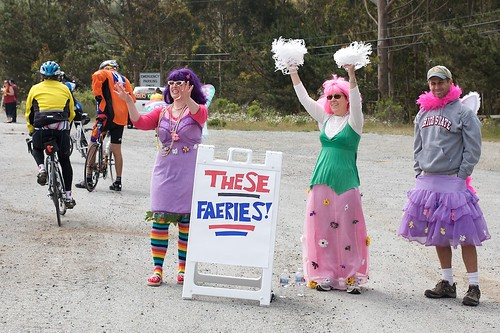 Faeries lifting riders spirits at the top of the climb.