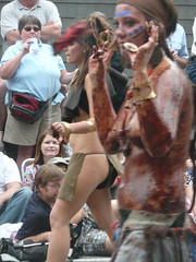 Fremont Solstice Parade 2008: Girl in Loincloth - by FallenPegasus
