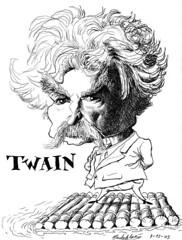 TWAIN, Mark (Morales de los Ros) Tags: writers caricaturas philosophers caricatures escritores filsofos