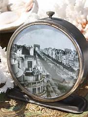 A Place in Time (thejoyof) Tags: street old white black paris art clock altered vintage de photo arch champs triomphe souvenir nostalgic avenue salvage elysees