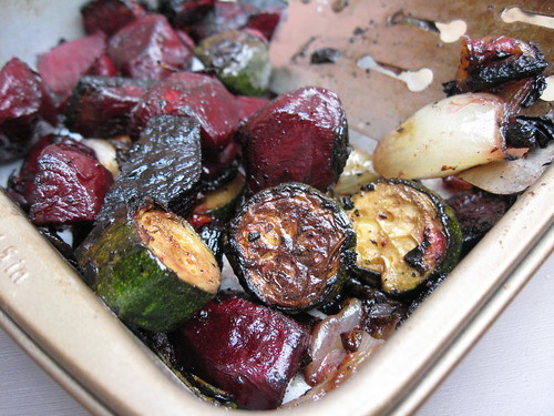 """roasted"" on my kettle veggies"