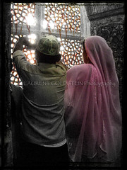 Until Wishes Are Fulfilled (designldg) Tags: pink boy people woman india heritage asia colours peace muslim islam faith prayer religion dream fatehpursikri mosque marble tradition spiritual contrejour mughal uttarpradesh  saarc indiasong ysplix articulateimages