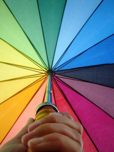 paraplu van andere kant bekeken