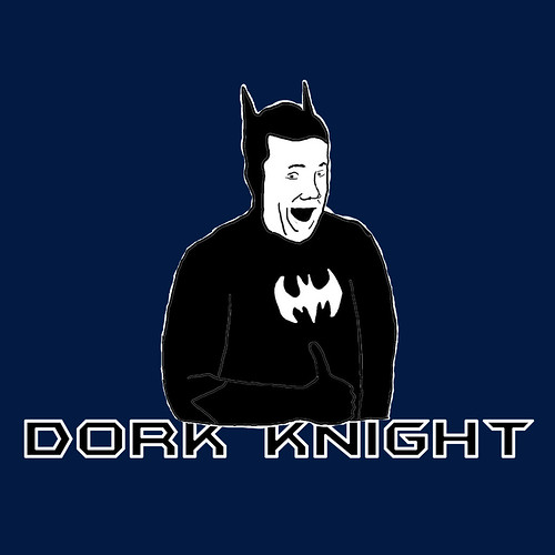 Buy the Dork Knight design on a t-shirt or other useful product