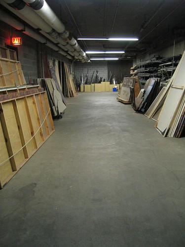 Performing Arts Center storage area