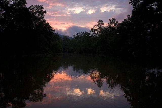 sunset over Shenandoah River, North Fork