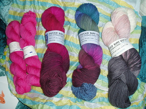 Summer of Love yarn swap array