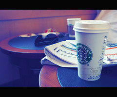 StarBux (Crazy Princess) Tags: macro coffee sunglasses newspaper cafe dubai coffeeshop starbucks starbux mocca crazyprincess