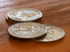 coins blurred by earthquake