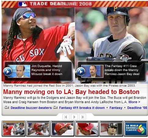 Manny 交易至道奇