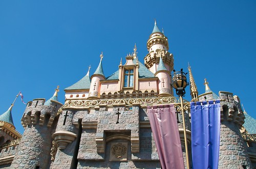 disneyland california castle. at Disneyland California