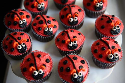Eliza's Ladybug cupcakes