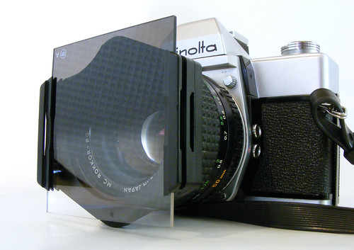 Minolta SRT 101 50mm F1.4 + Cokin A Filter Holder & Grad