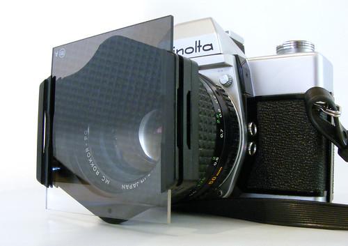 Minolta SRT 101 50mm F1.4 + Cokin A Filter Holder & Grad