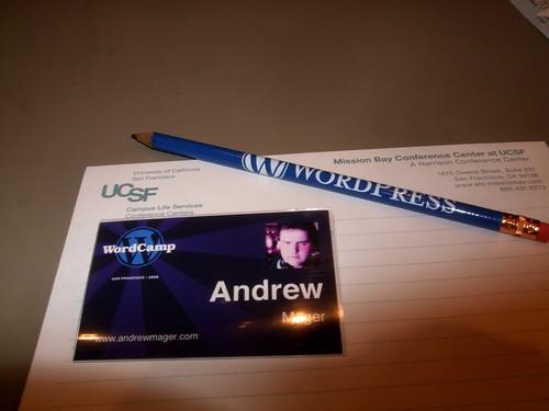 Wordcamp badges use Gravatars