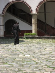 A monk in Rila Monestary (Kate B Dixon) Tags: bulgaria rila monestary