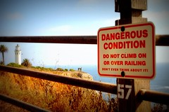 Do Not Climb on or Over Railing (Abby Lanes) Tags: california dangerous donotclimb palosverdespeninsula ranchopalosverdes pointvicentelighthouse