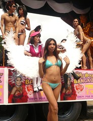 Edinburgh Fringe: Ladyboys of Bangkok (chairmanblueslovakia) Tags: two festival angel asian scotland wings edinburgh legs bangkok wheels fringe bikini thai cabaret piece float picnik transsexual ladyboys shemale thaland kathoey of