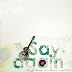 Say it again.. (abdull) Tags: typography design guitar it again kuwait typo say abdullah alhamad kuwaitigraphicdesigner