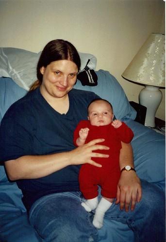 Aunt Carol and baby Wesley