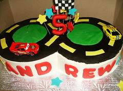 Race Track (irresistibledesserts) Tags: birthday boy car cake race track