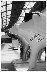 Liverpool, Limestreet station - superlambanana heads (Ian's Eye) Tags: blackandwhite liverpool limestreetstation liverpoolcapitalofculture2008 canon40d superlambananas