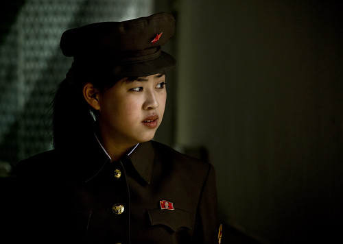 north korean girls. North Korean soldier Pyongyang