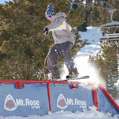 Mt. Rose snowboarder