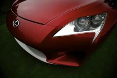 Lexus LF-A Roadster Concept's Eye (j.hietter) Tags: california red detail beach car monterey pebble part lf headlight concept lfa partial lexus roadster