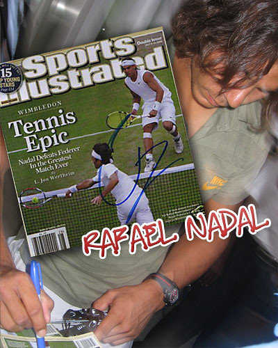 Nadal Signs wimbledon champion sports illustrated