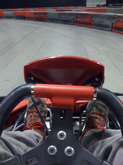 View from the pole position (wallofhair) Tags: me gokarting gokart poleposition gokarts