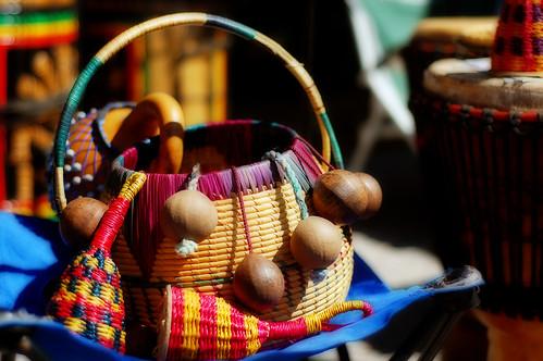 Basket & Wooden Balls