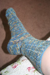 Toe- up work sock part 1