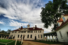 Mount Vernon Mansion (` Toshio ') Tags: trees roof red sky usa house history face architecture clouds yard america photoshop garden landscape virginia washington estate path bricks manipulation walkway va historical mansion georgewashington soe hdr mountvernon mtvernon toshio abigfave goldstaraward