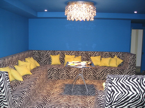 the crazy zebra striped conversation pit by tiboutoo.