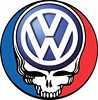 Grateful Dead VW Volkswagen emblem/logo Steal Your Face