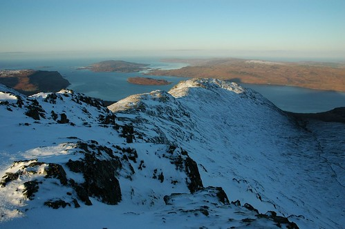 The north west ridge of Beinn Fhada leading down to Loch Na Keal